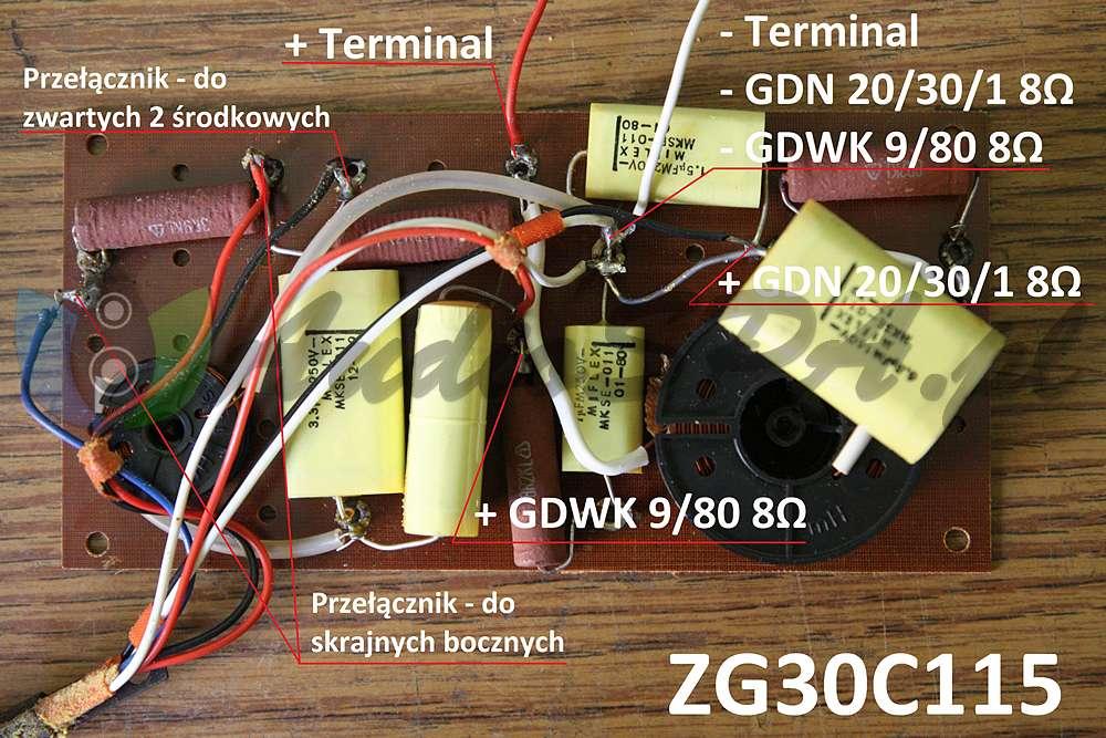 Podłączenie zwrotnicy ZG30C115