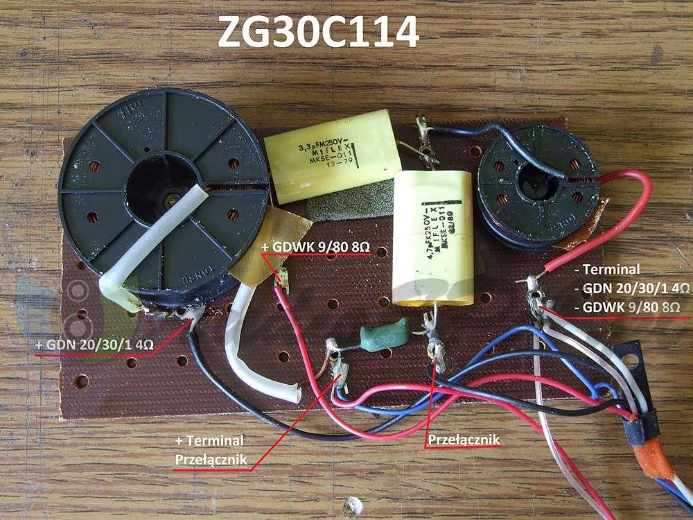 Podłączenie zwrotnicy Tonsil ZG30C114