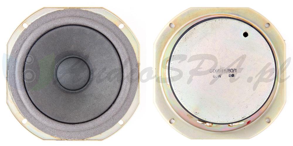Zdjęcie oryginalnego głośnika Tonsil GDM 16/80/1 8Ω